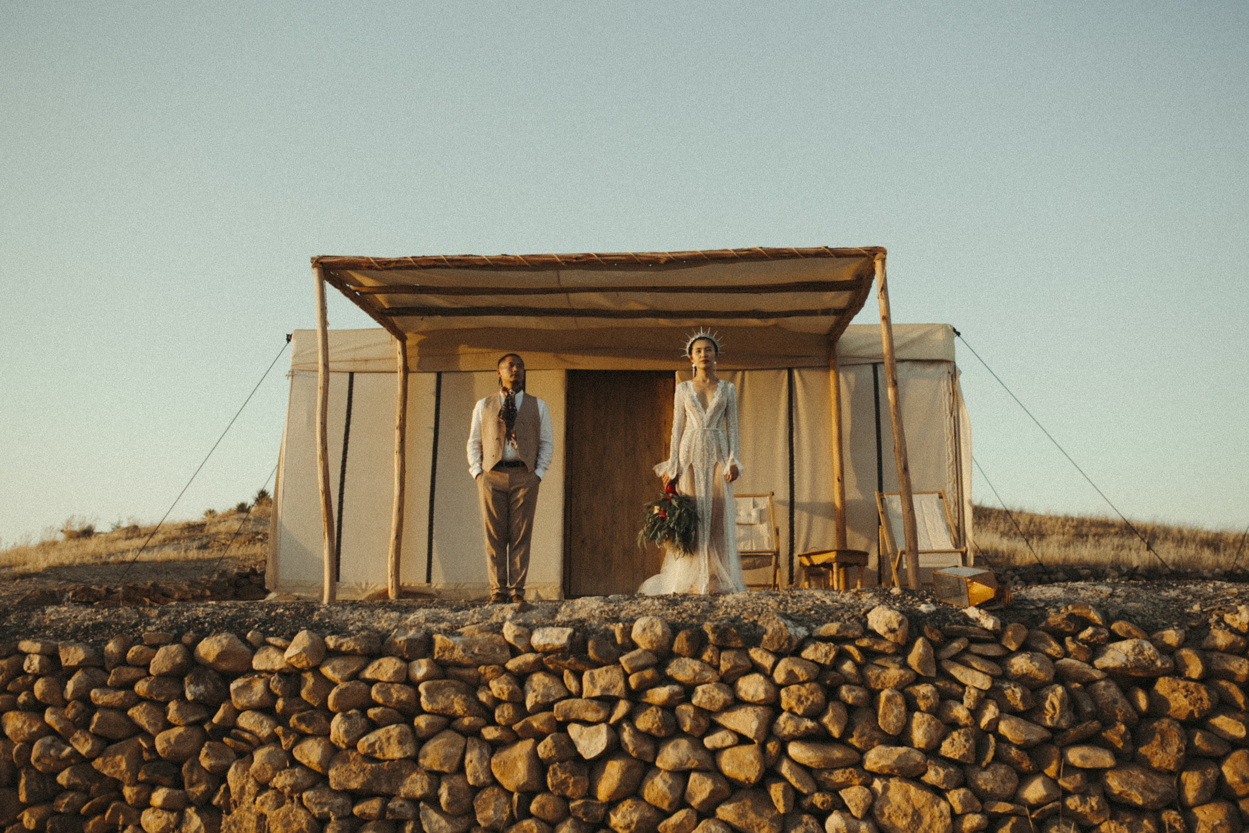 Boho camp wedding in Morocco -