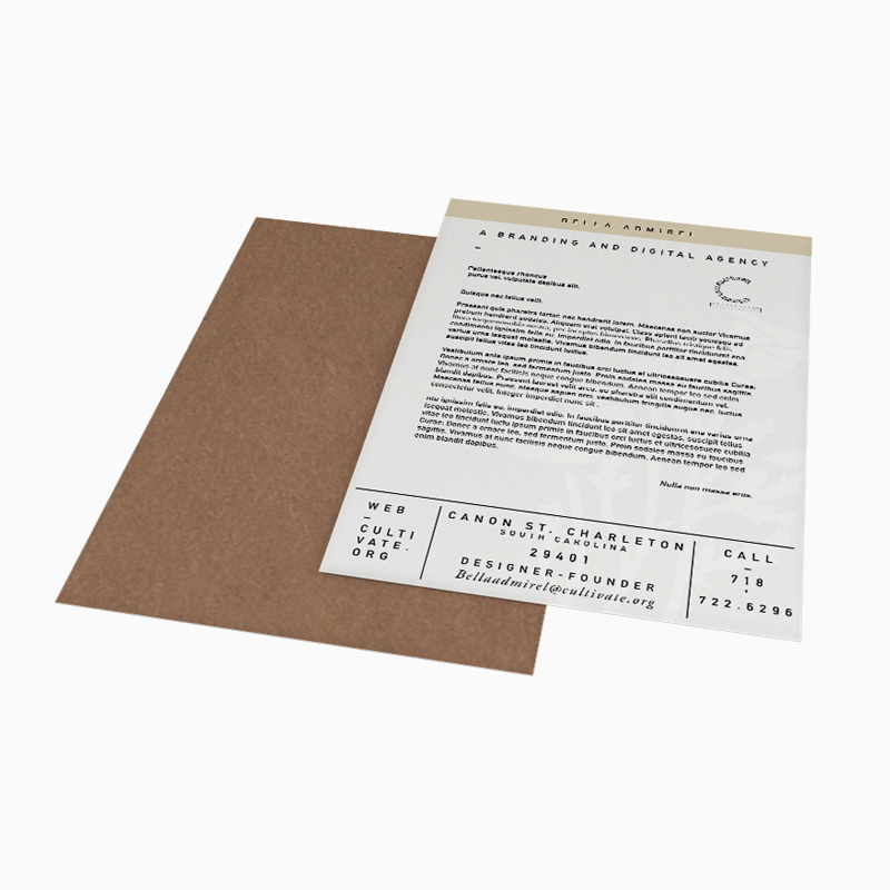Cultivating Your Creativity  Letterheads come in a range of styles and layouts, and are the cornerstone of a branded stationery set.