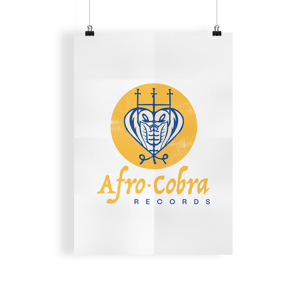 Afro Cobra Records  A strong logo or label goes a long way to building a strong identity. Inspired by the  AfriCOBRA Art Collective  based in Chicago, using a blend of Adinkra symbols and the Veve's of Voodun.Afro Cobra Records is an independent label based in Brooklyn, NY specializing in limited releases .