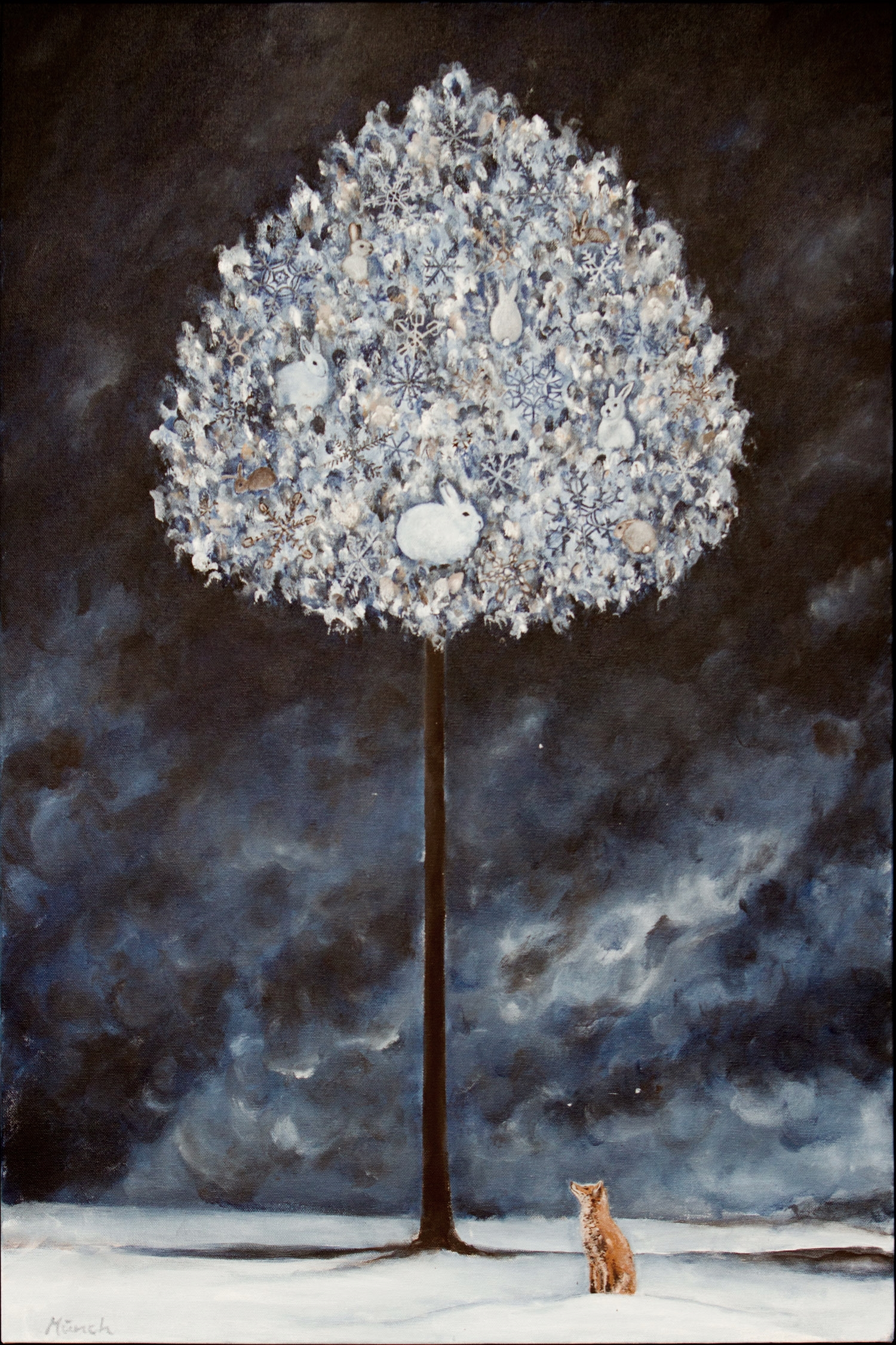 "winter tree, 24""x36"", acrylic on canvas, 2015"