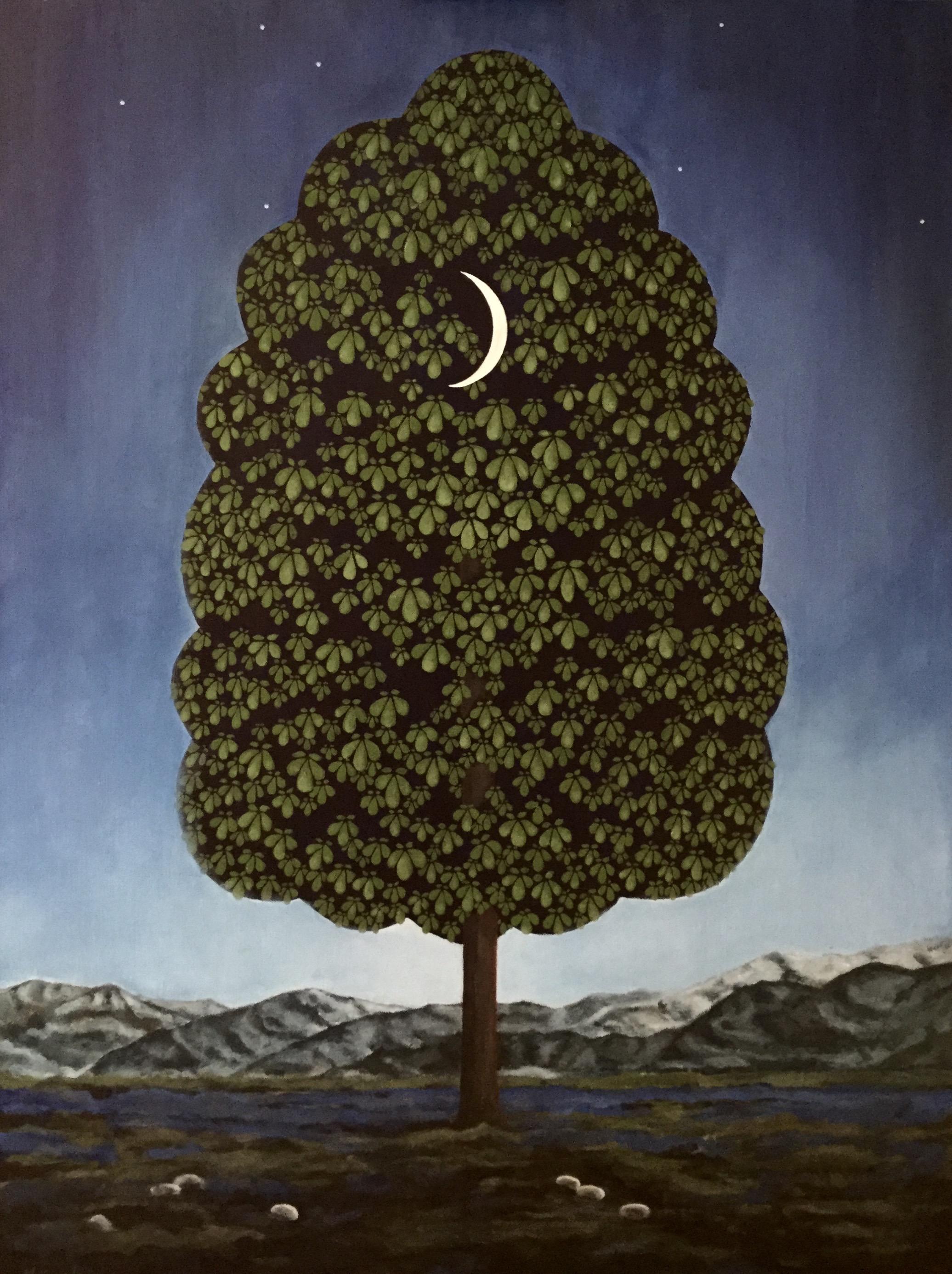 "chestnut tree, 30""x40"", acrylic on canvas, 2015"