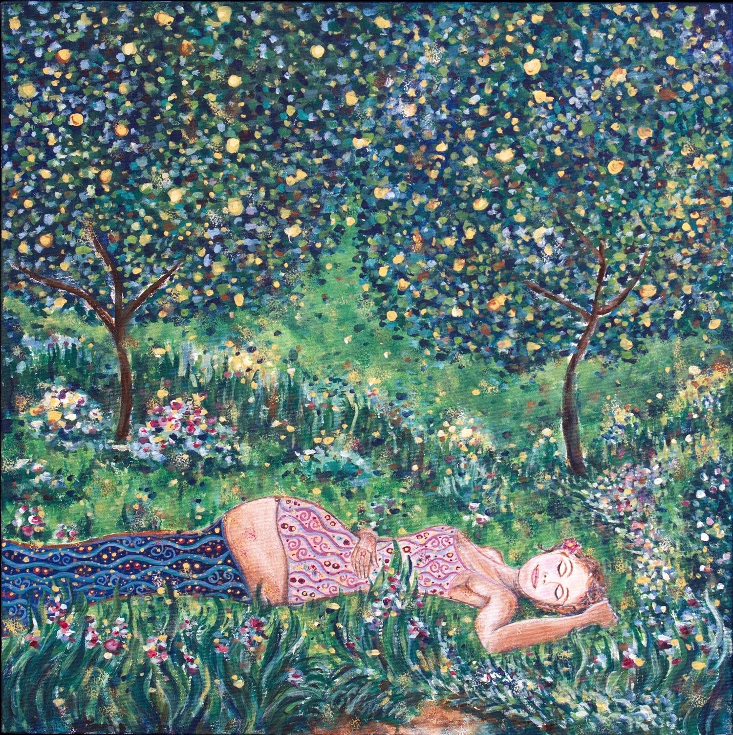 """abundance, 24""""x24"""", acrylic on canvas, 2011"""