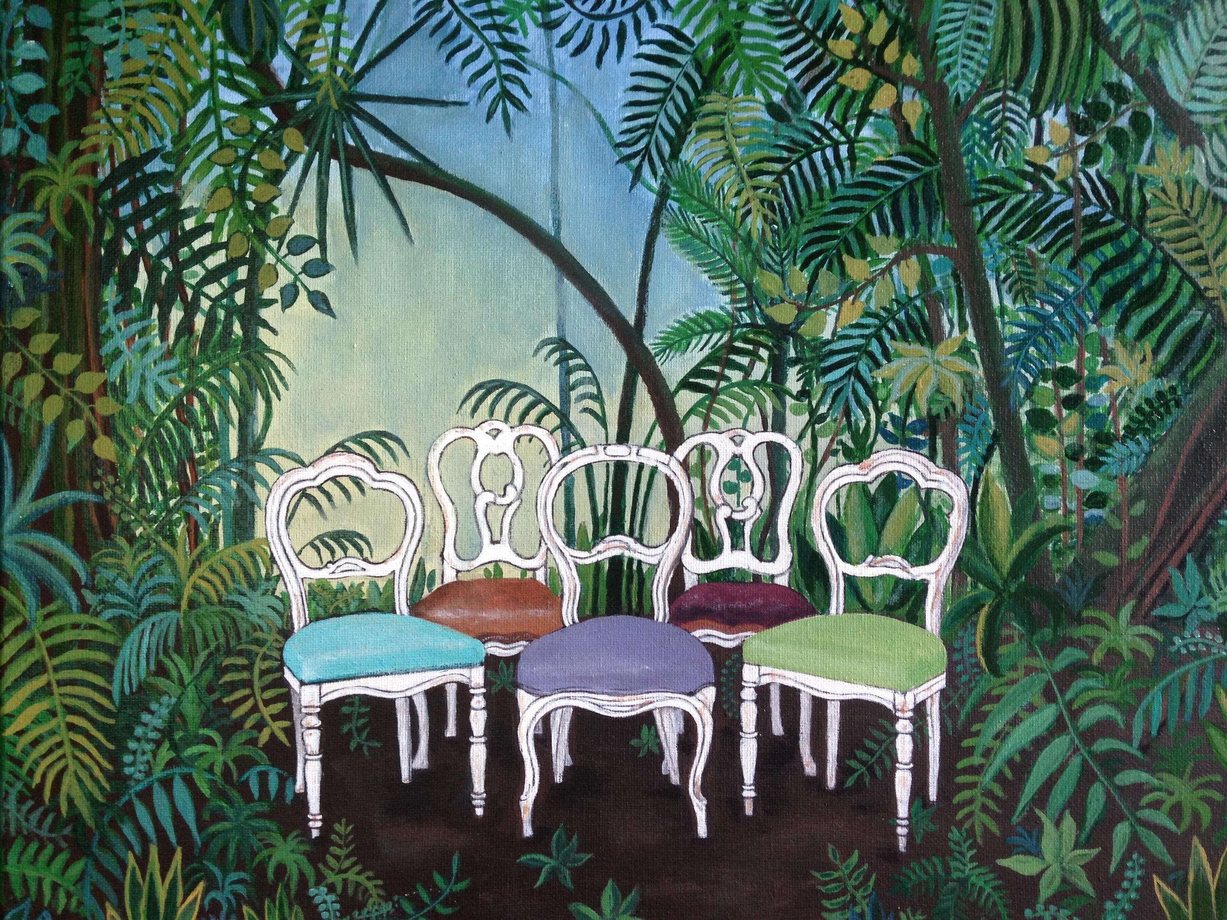 invitation to the jungle, 12''x16'', acrylic on canvas, 2016