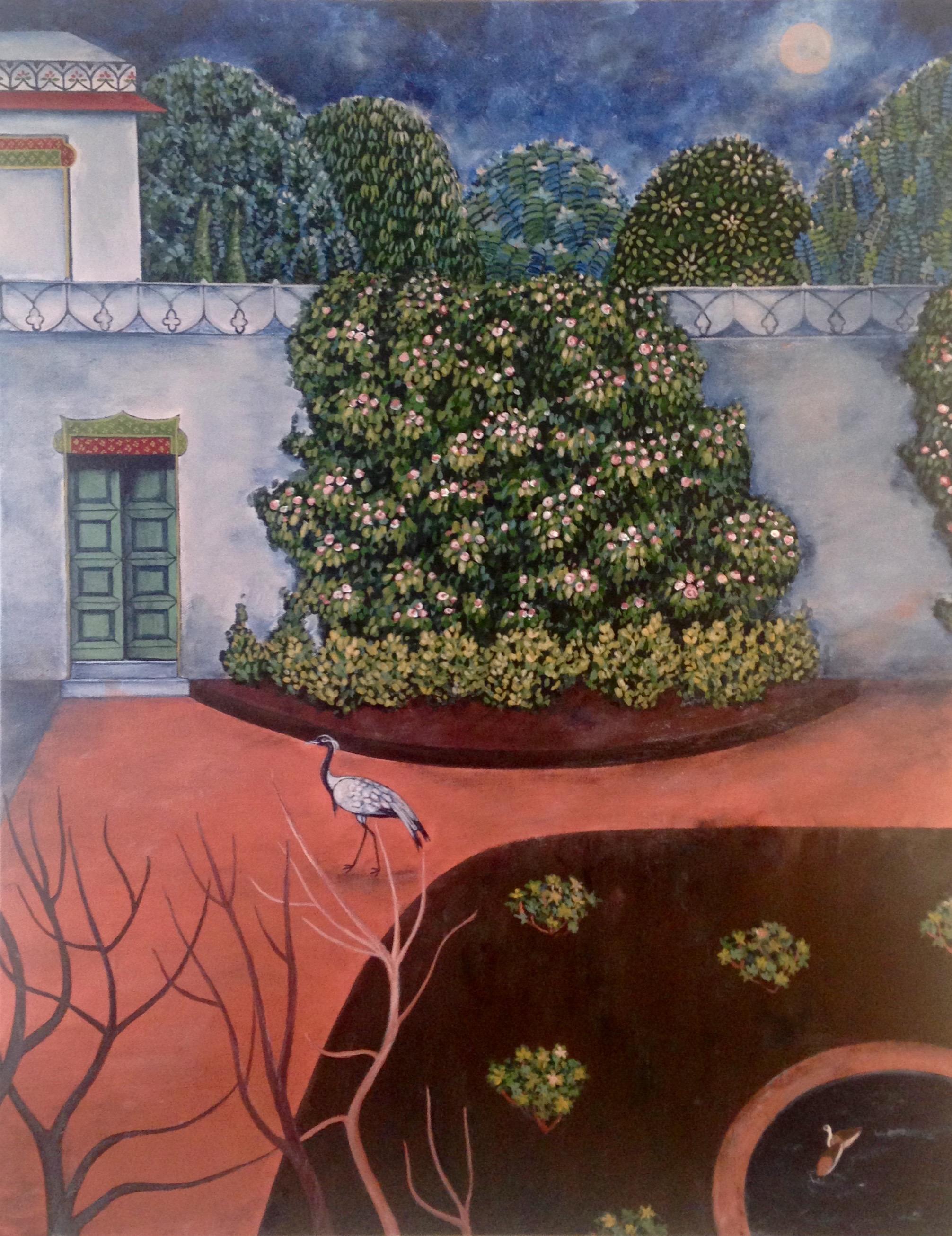 secret garden, 22''x28'', acrylic on canvas, 2016
