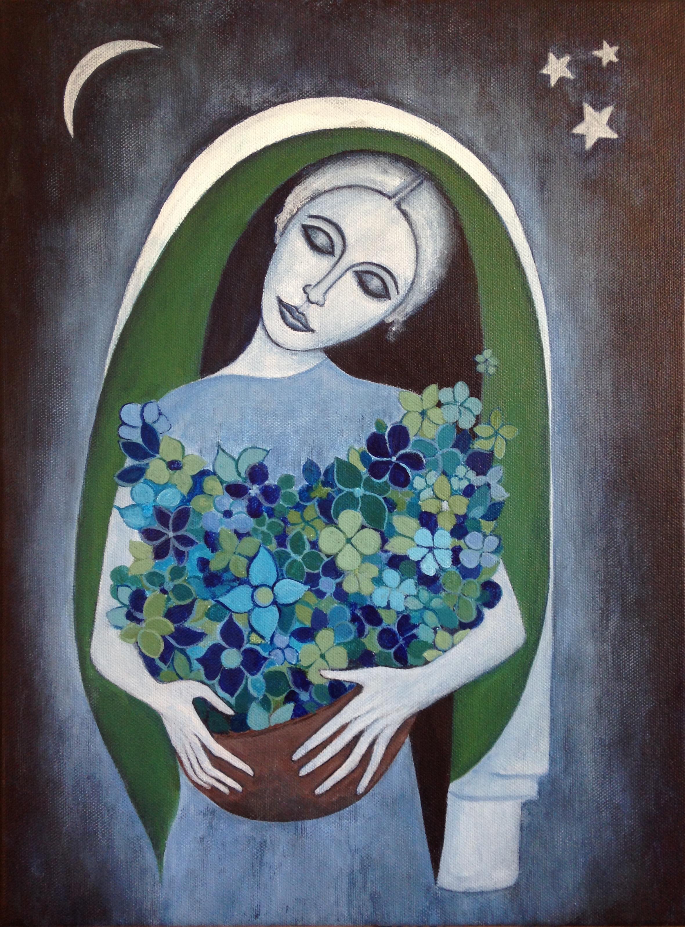 peace, 12''x16'', acrylic on canvas, 2016