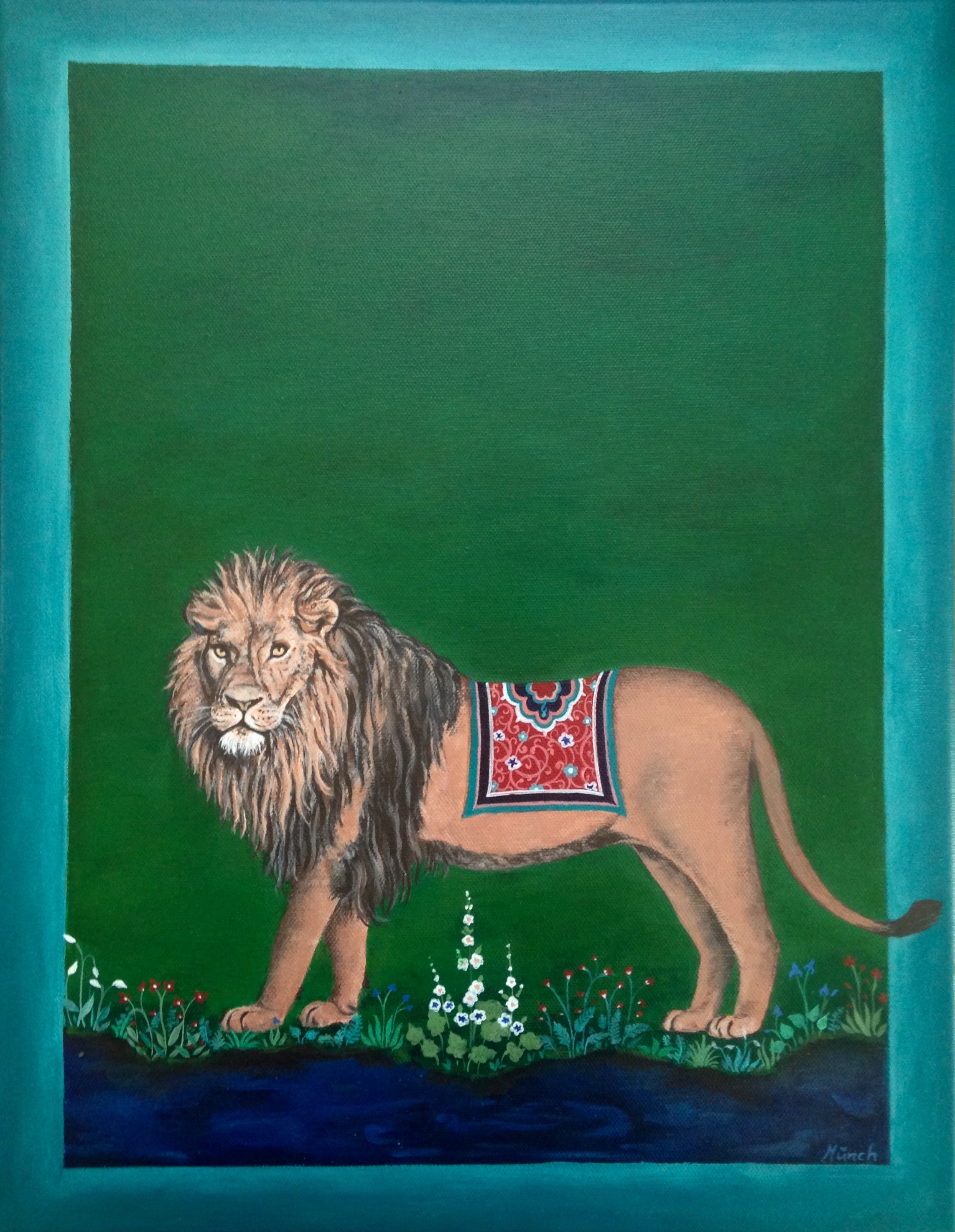 Sinha, acrylic on canvas, 14''x18'', 2017