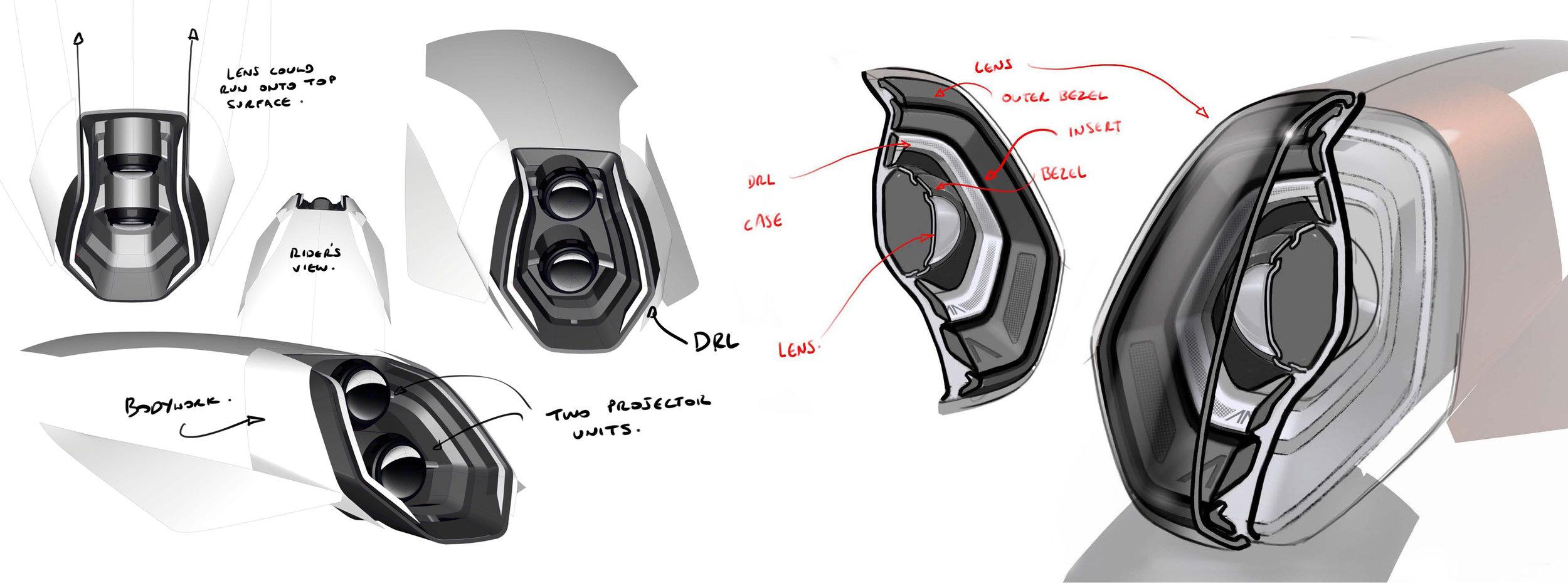 Headlight concepts.