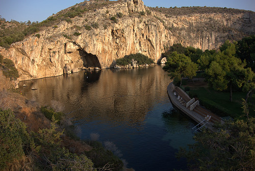 lake vouliagmeni swim athens greece south beach