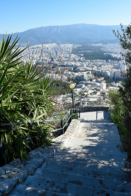 mount lycabettus hiking athens greece