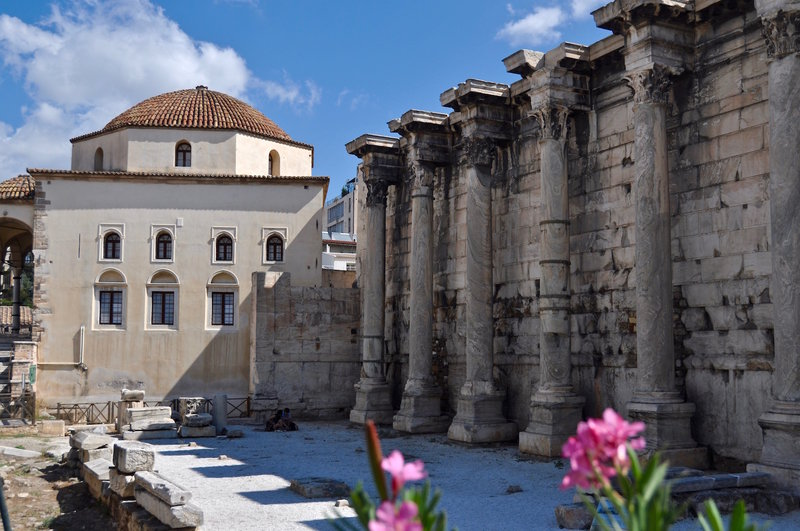 Hadrian's Library (Βιβλιοθήκη του Αδριανού) in Athens, built 132 AD