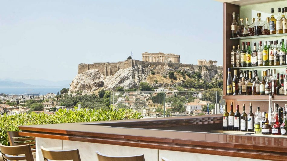 Spectacular GB Roof Garden @ Syntagma Square [pic by Hotel Grande Bretagne]
