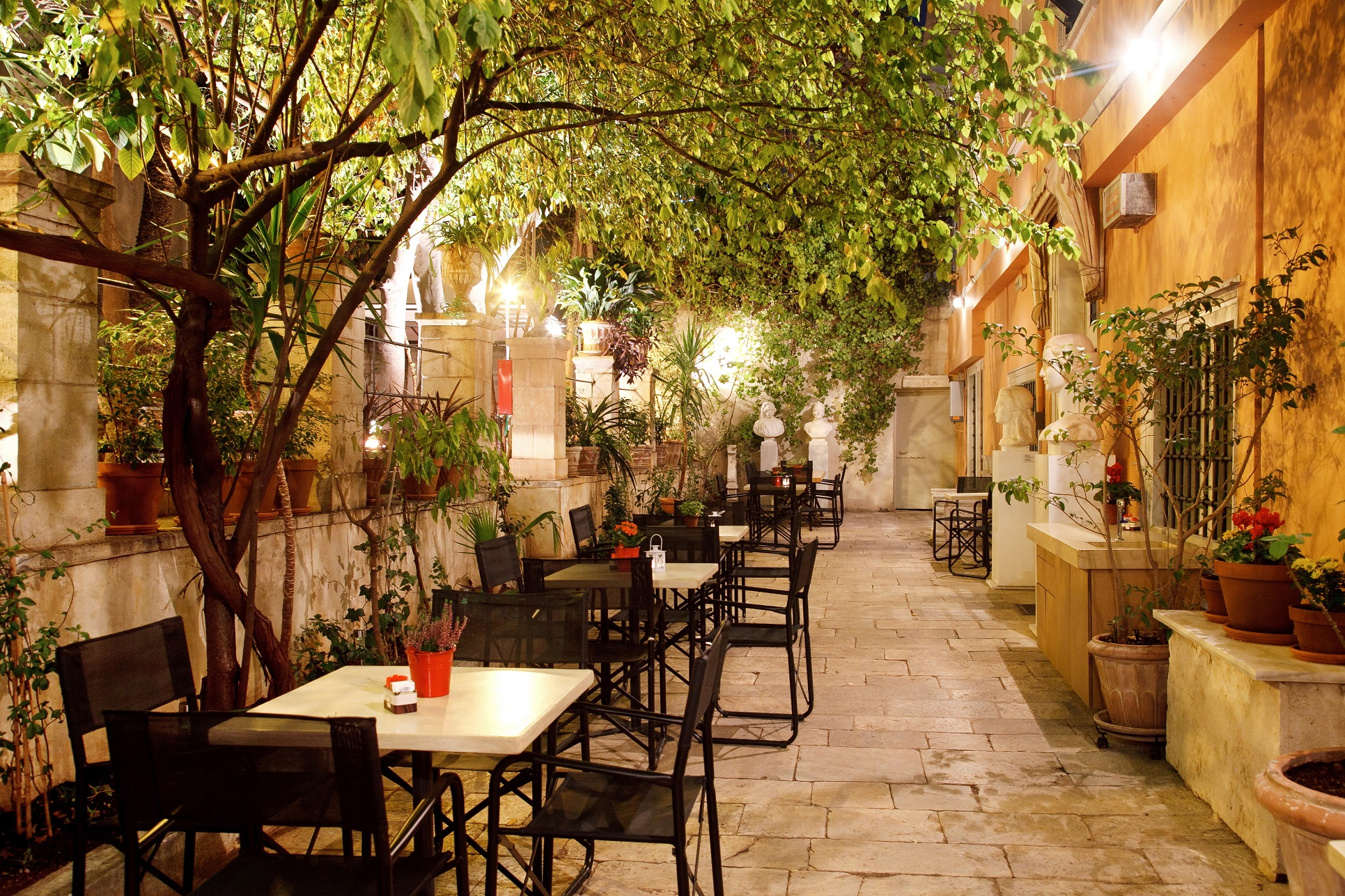 The Black Duck Garden in central Athens (Picture courtesy of Athens' City Museum Bistrot 'Black Duck Garden)