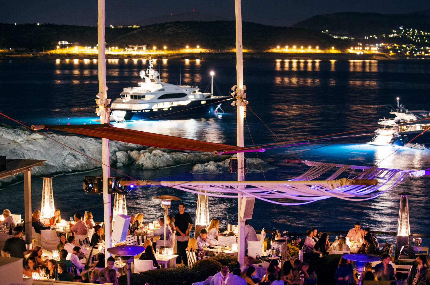 """The """"Island' summer club in the Athens Riviera (Picture courtesy of Island Club Restaurant)"""
