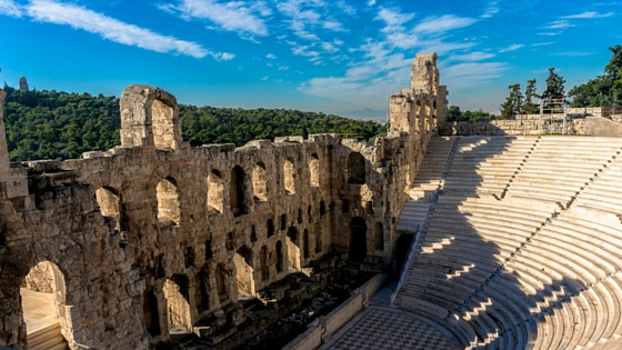 View of the Odeon of Herodes Atticus at the foot of the Acropolis (Picture by  Scott Gregory )