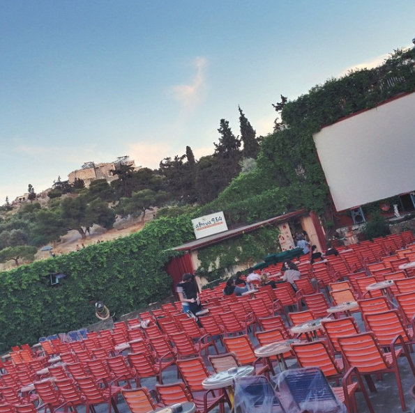 Cine Thision overlooking the Acropolis (Picture via  Instagram )