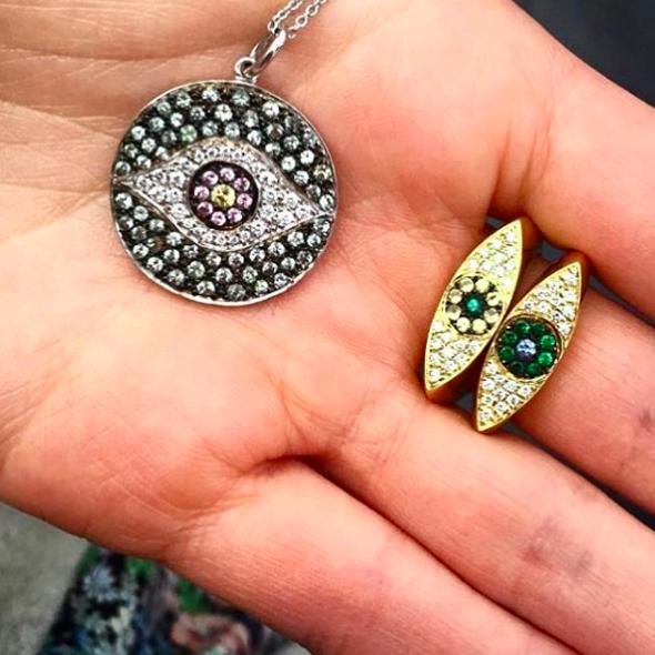 'Evil eyes' from jewelry designer Ileana Makri (Picture by ileanamakri/Instagram)