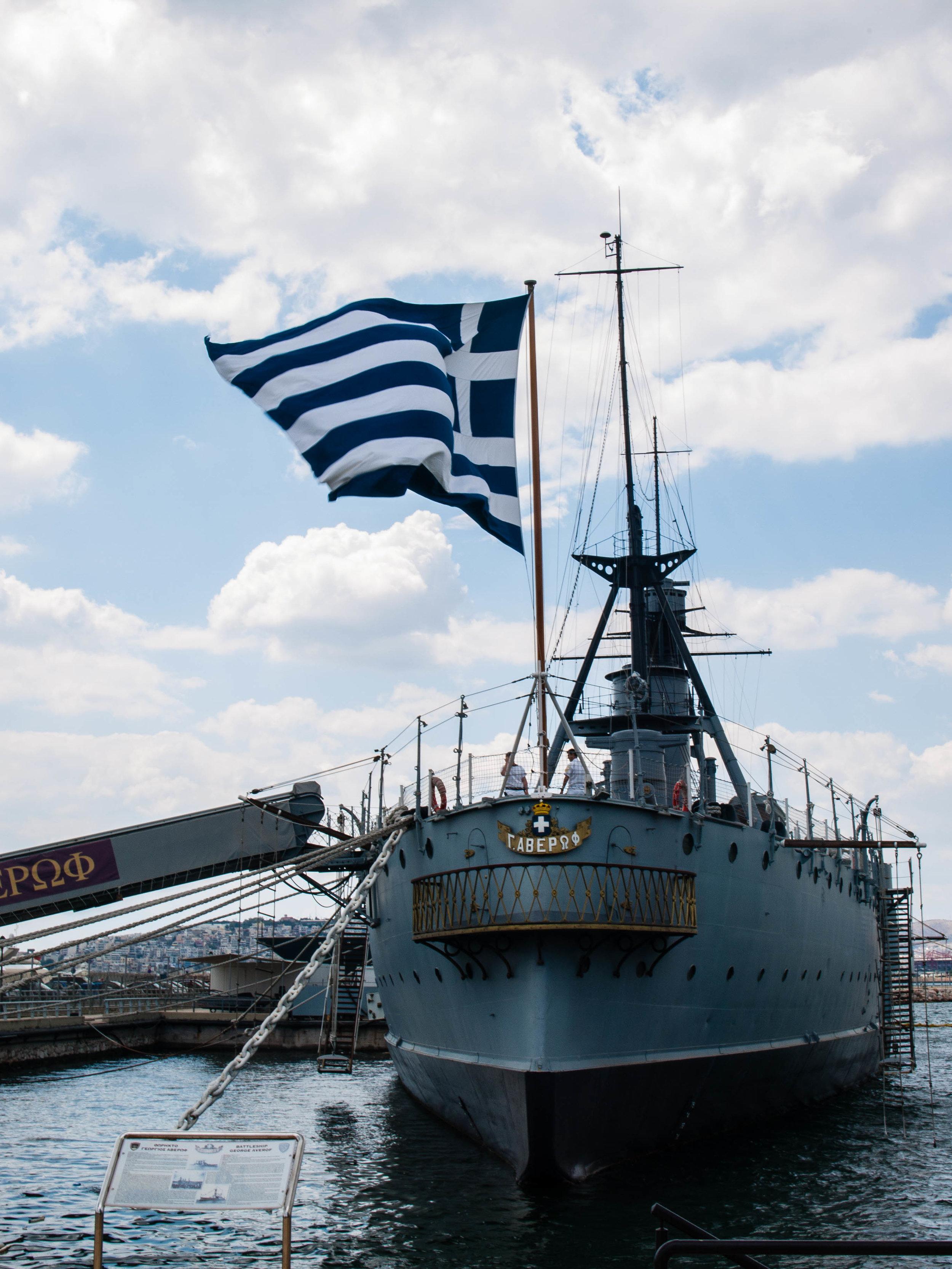 The Battleship 'Averof' floating museum (Picture by Katherine Poseidon)