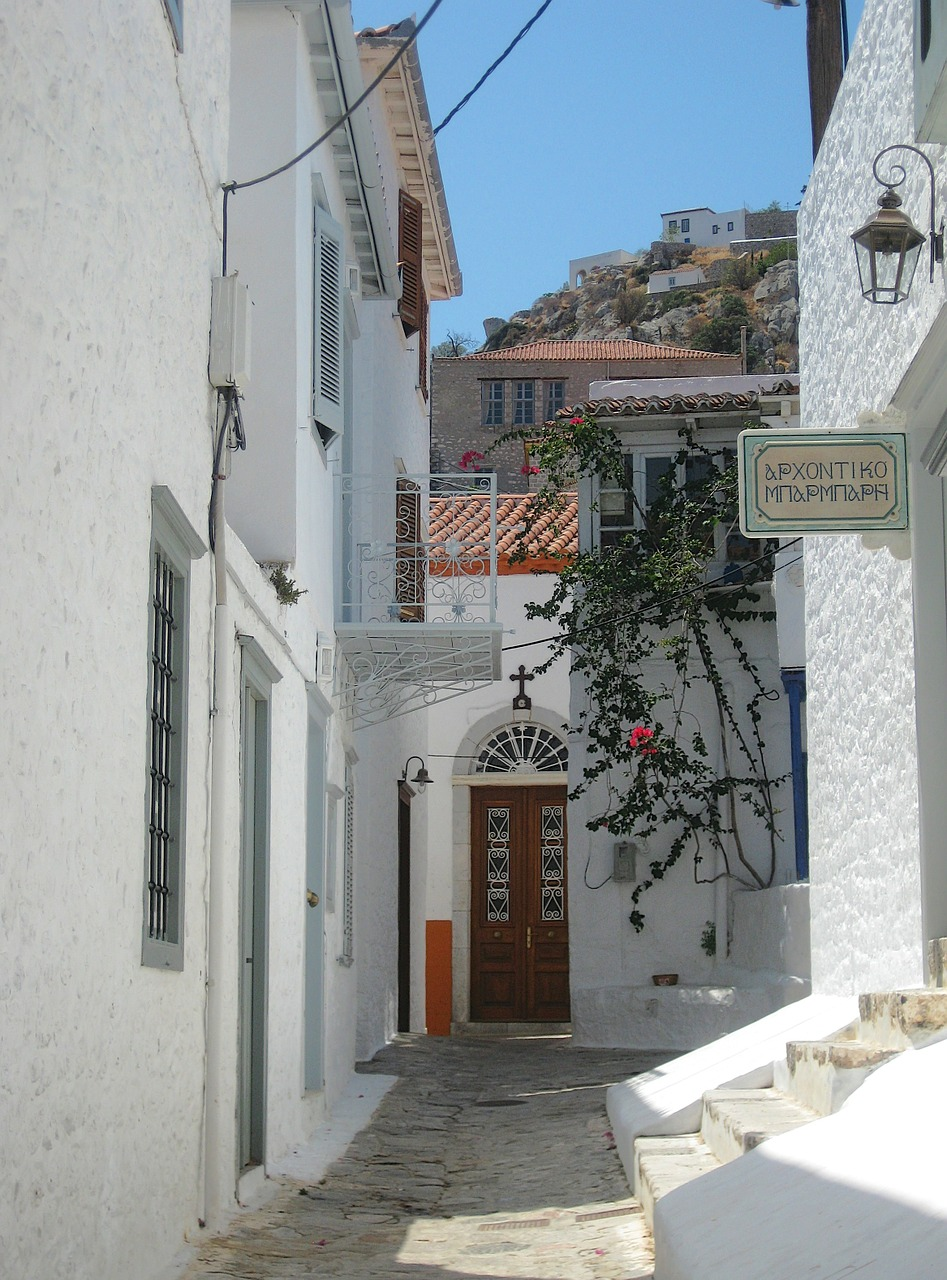 The picturesque Hydra island in Greece