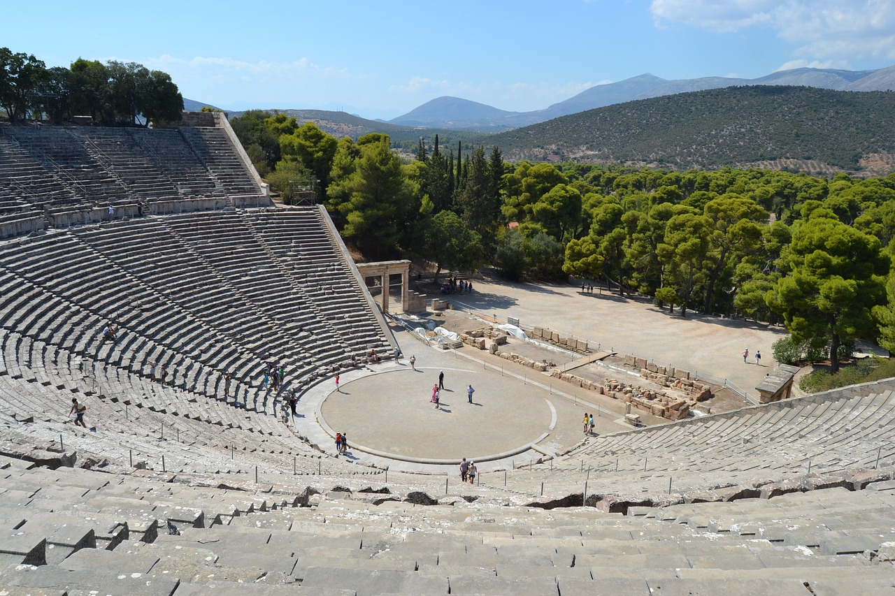The state-of-the-art Epidaurus theatre hosts remarkable plays every summer.