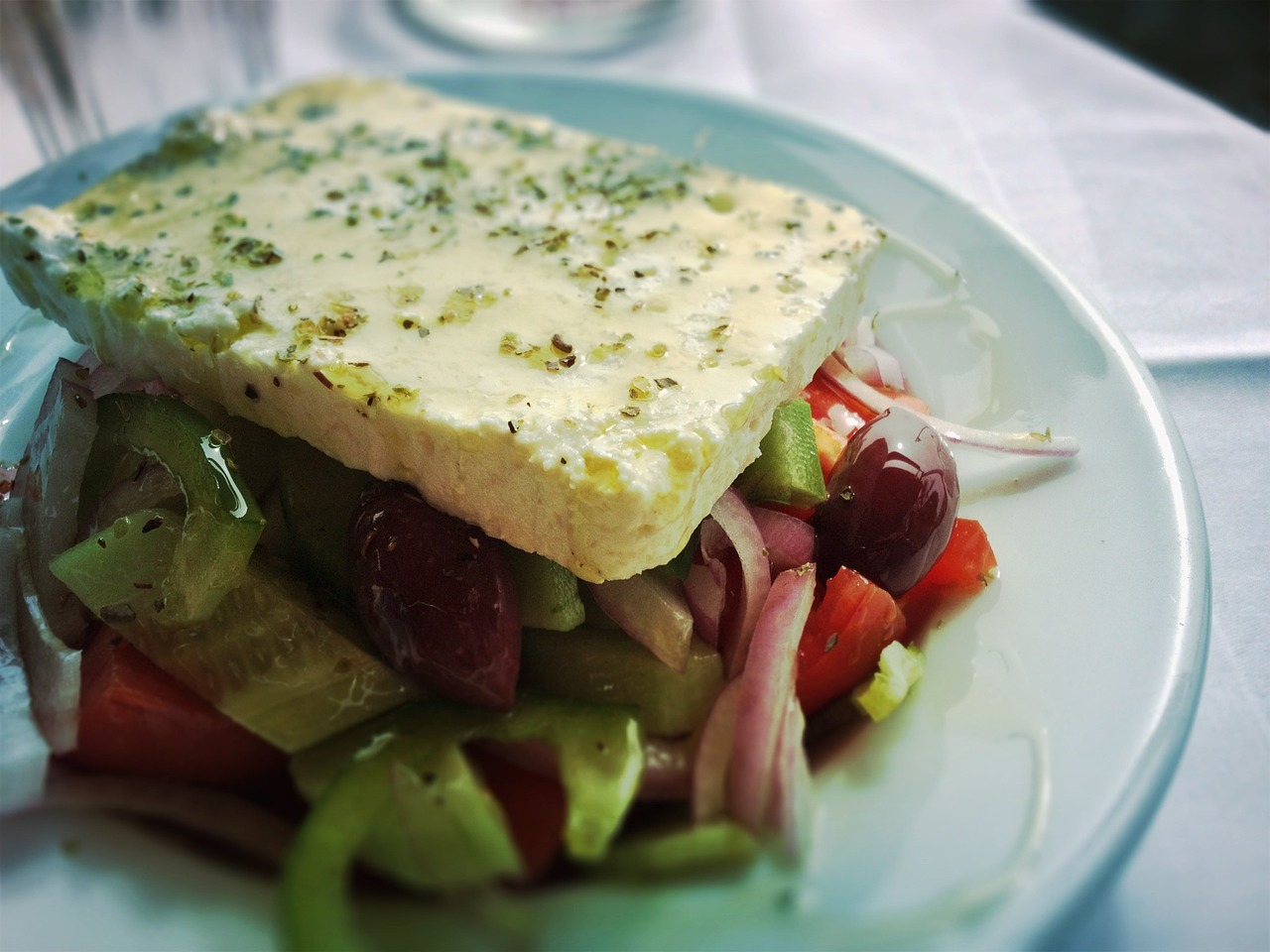 The queen of all salads, the 'horiatiki' Greek salad!
