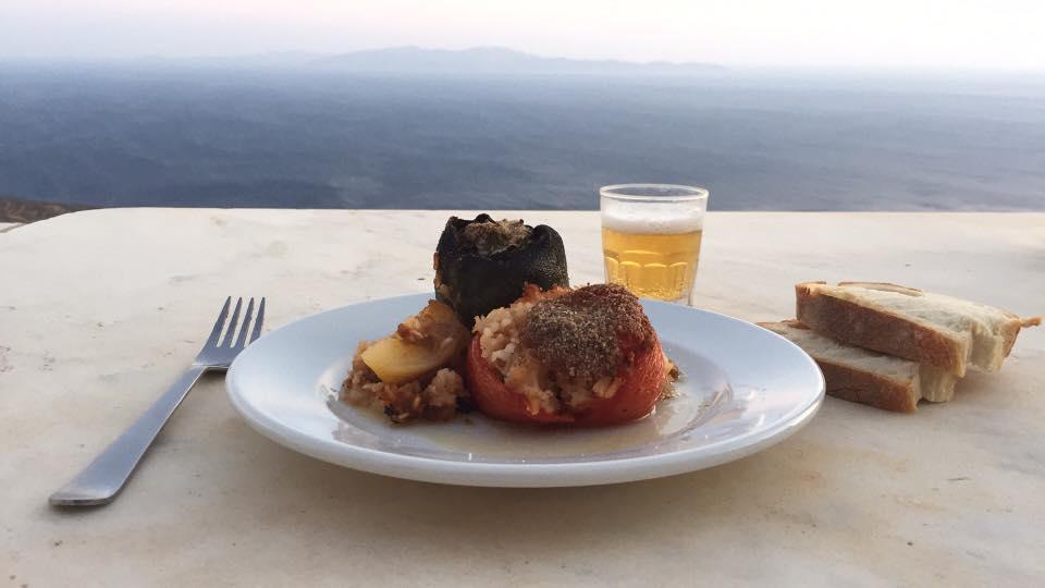 Stuffed 'gemista', a Greek food staple! (Picture by George Kouvaras)