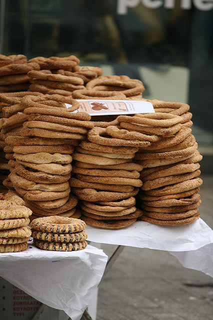 The delicious  'koulouri' Greek snack (Picture by Chris Brown / Flickr)