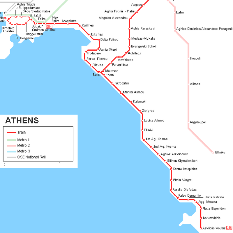 tram map athens