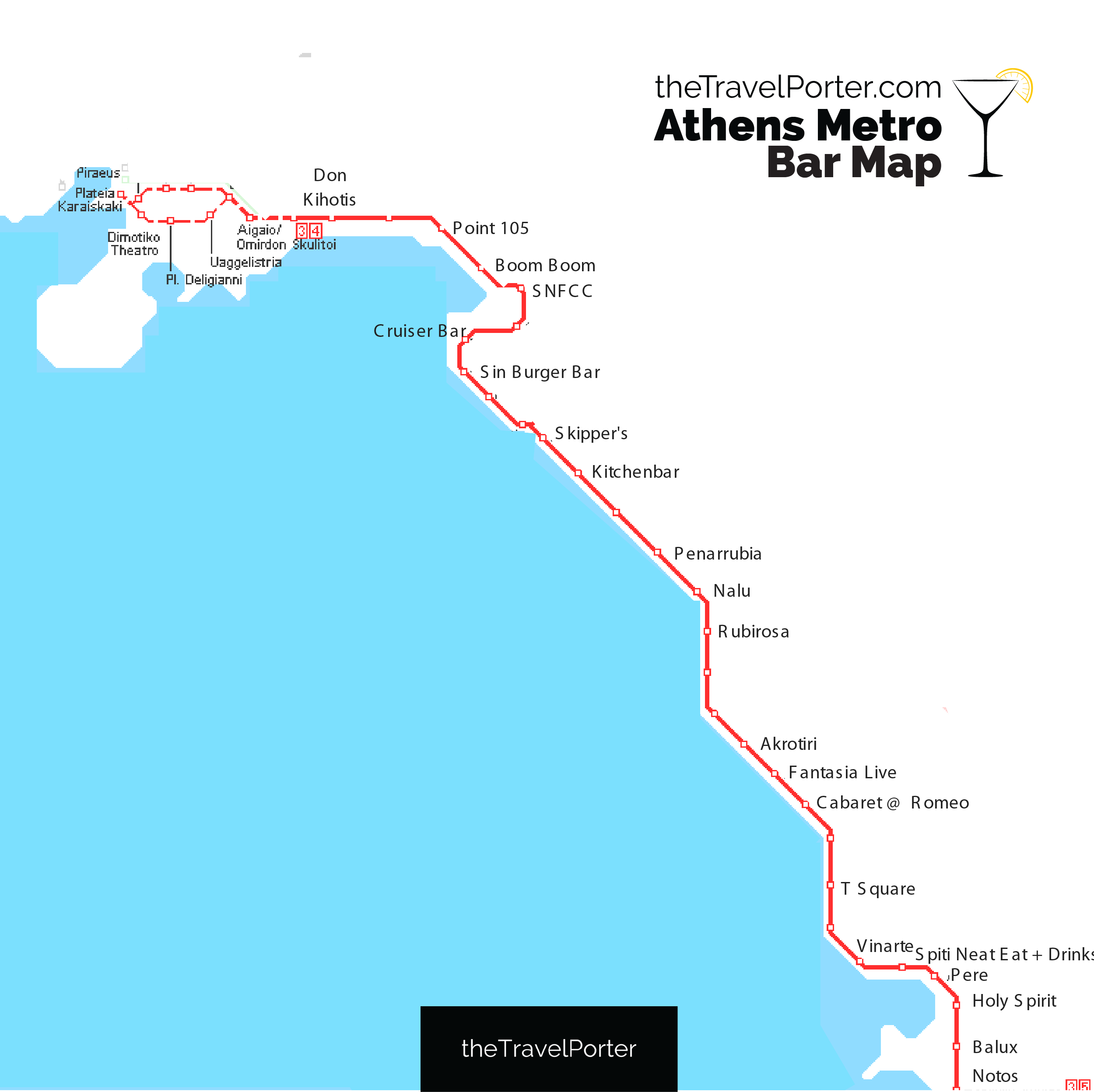 TheTravelPorter tram map bar map