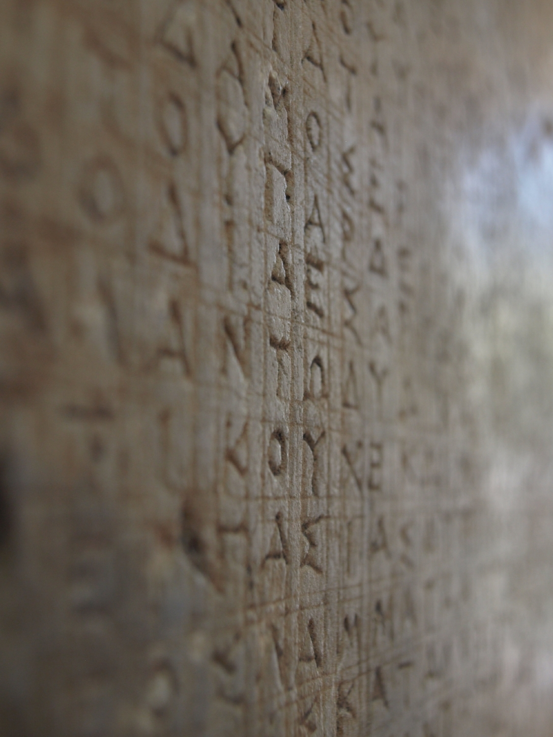 The Greek Alphabet in its original (all capital letters!) form (Picture by Katherine Poseidon)