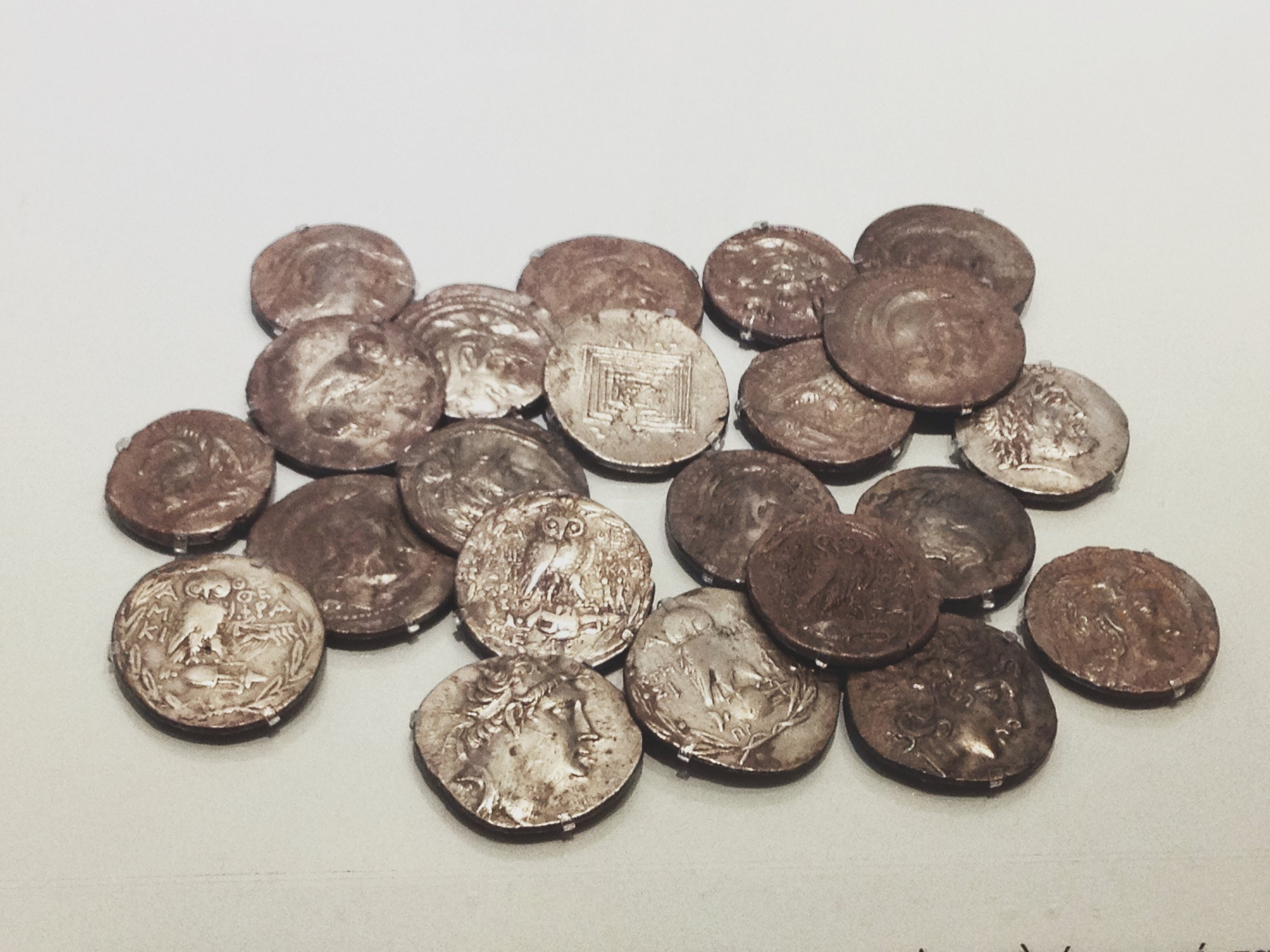 Ancient Greek Coins - not so different from today (Picture by Katherine Poseidon)