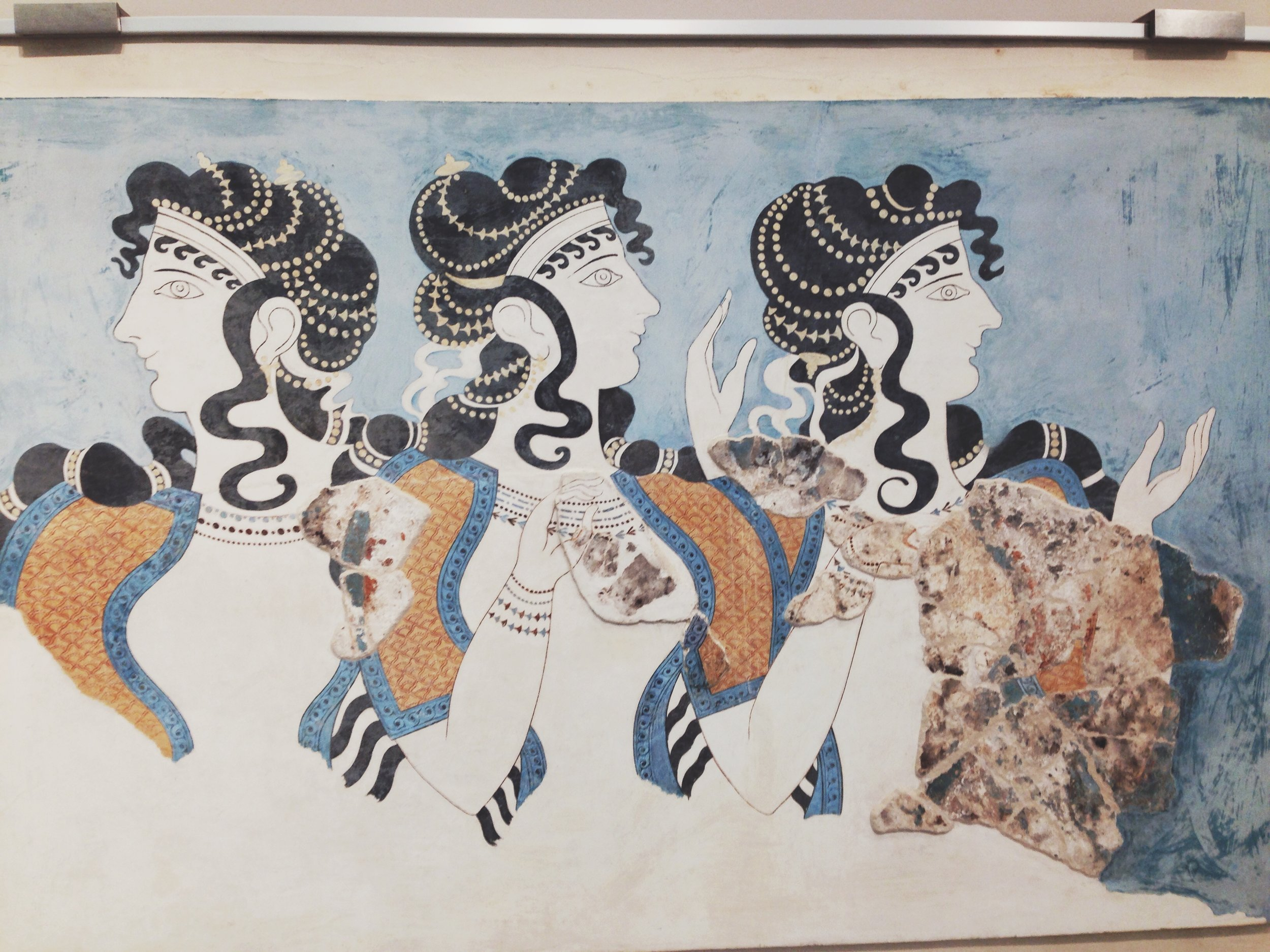 Wall Frescos from Knossos in Crete (Picture by Katherine Poseidon)