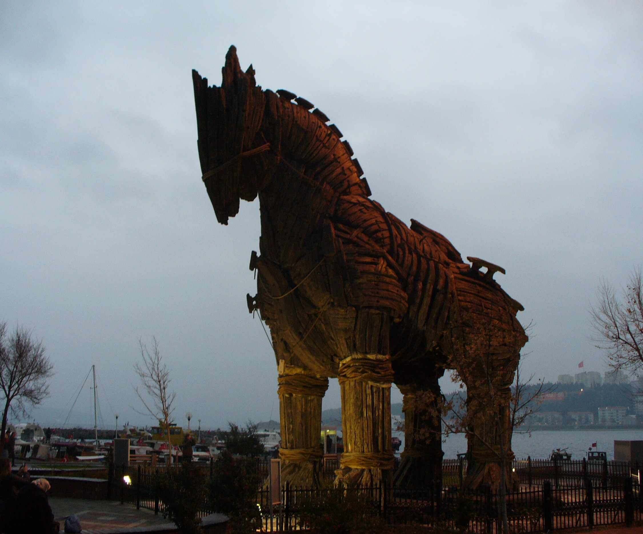 A replica of the Trojan Horse - used in the film  Troy ! (and now located in Turkey, the site of the city of Troy) (Picture by  QuartierLatin1968 / Flickr )