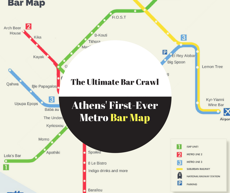 best bars metro map athens