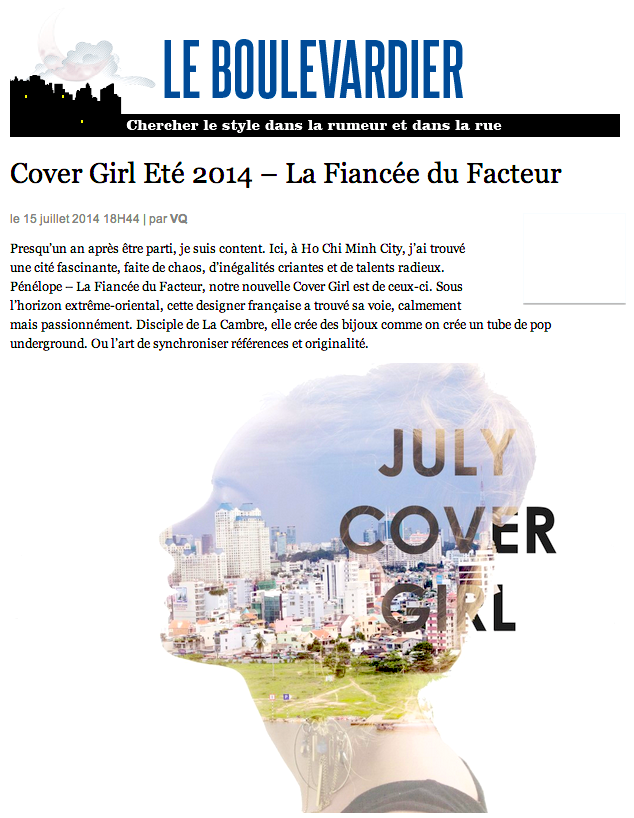 'le boulevardier' pour 'L'express styles', 2014