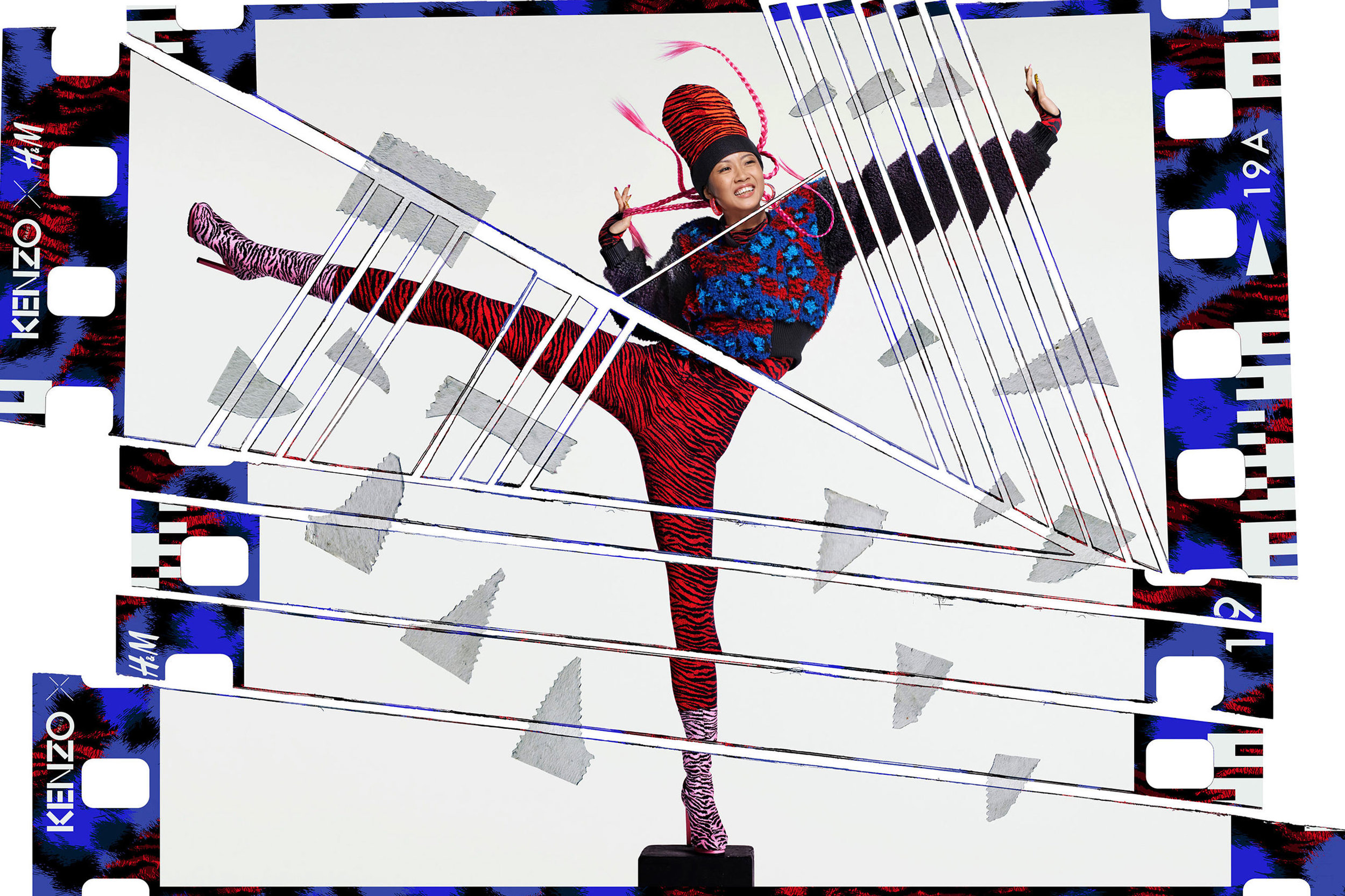 Suboi photographiée par Jean-Paul Goude pour Kenzo et H&M.