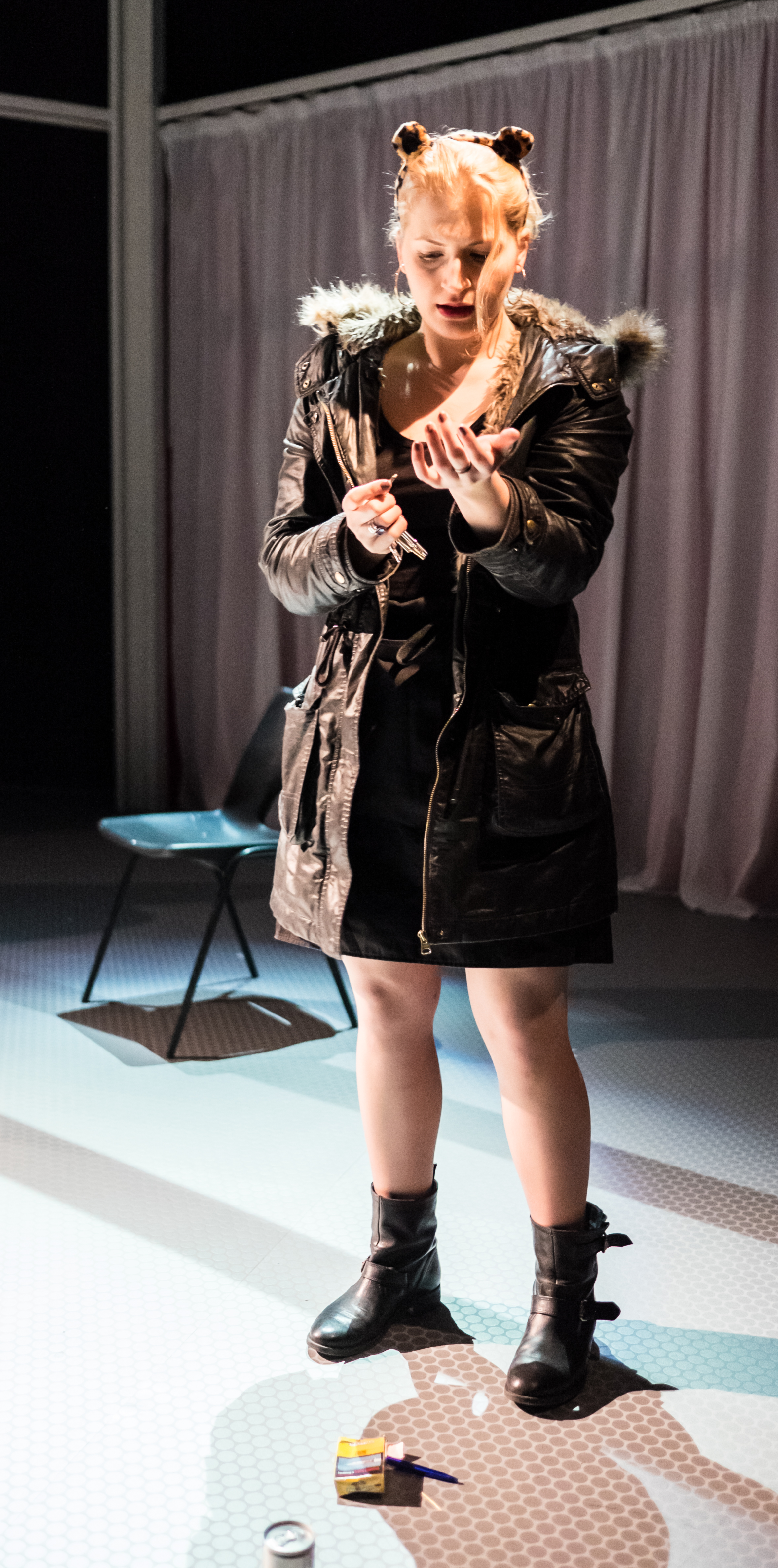 Laura Hanna in PALINDROME (Miniaturists 50 - Arcola 2015) Photo by John Wilson