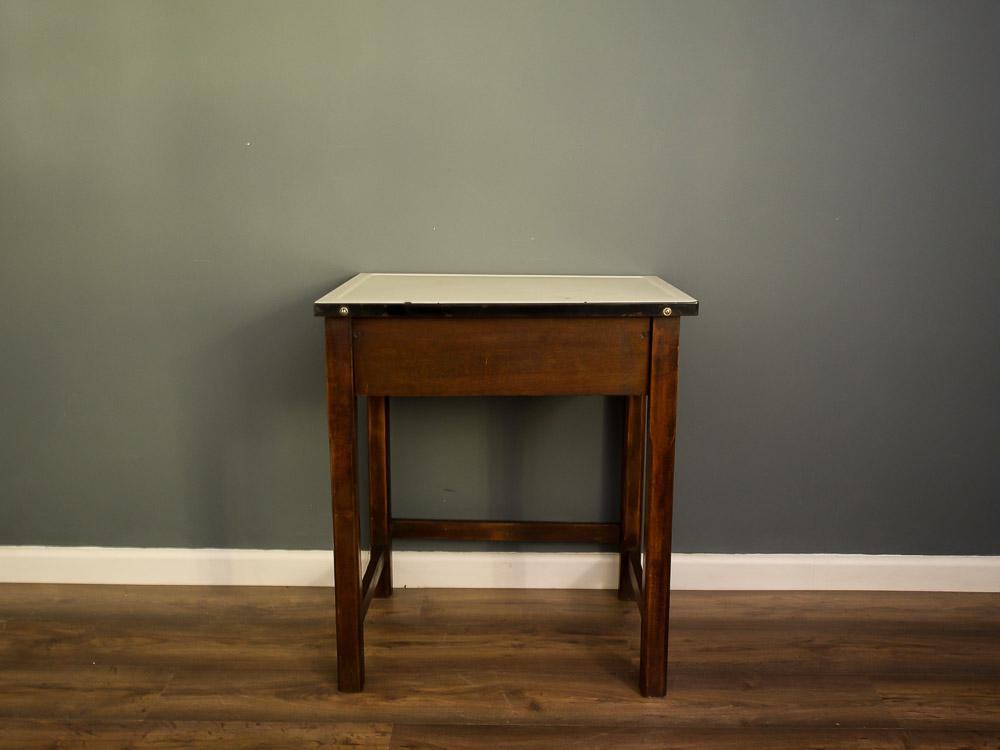 Enamel top table (clothes wringer inside)