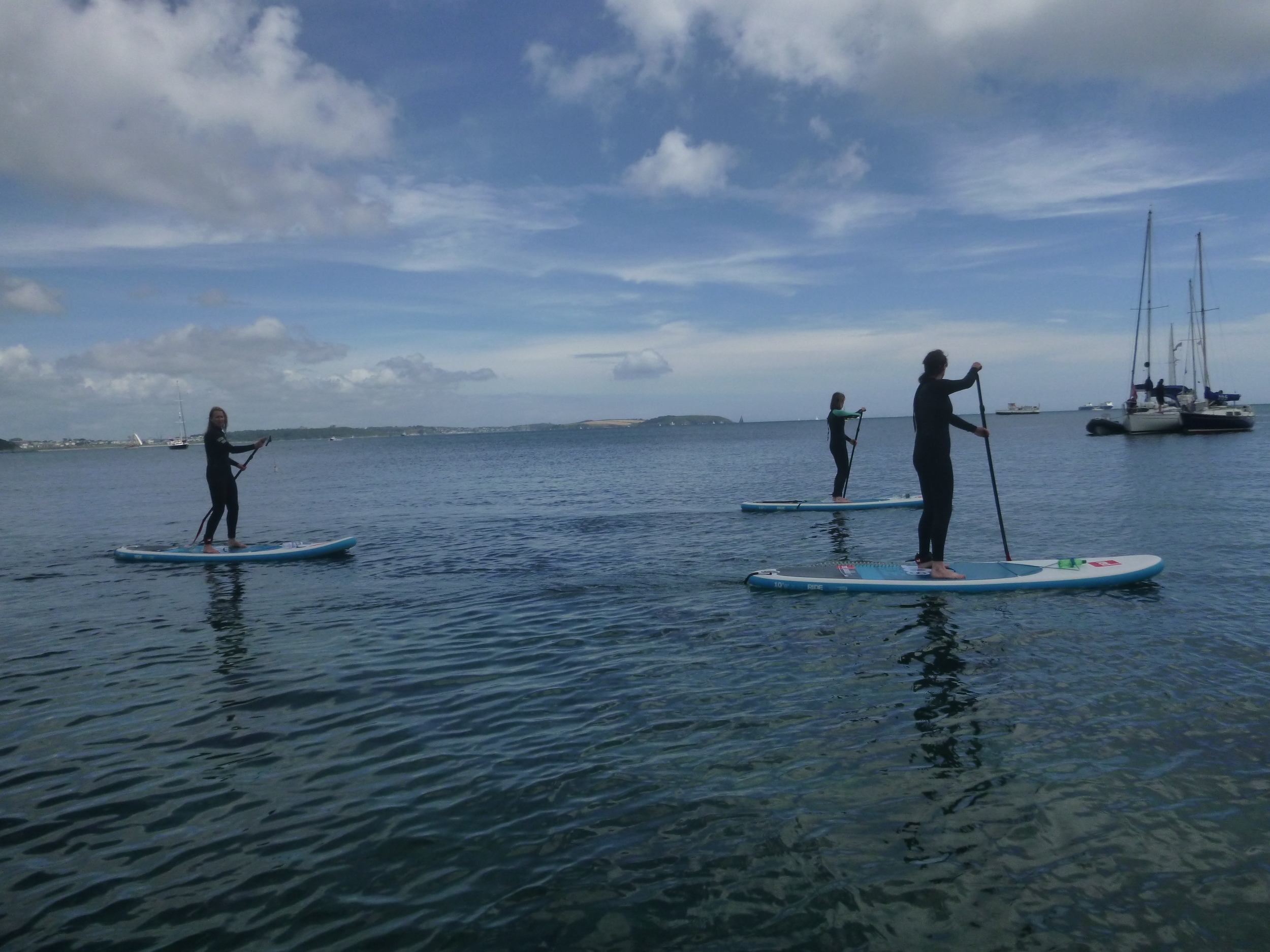 SUP Tour Views across Falmouth Waters