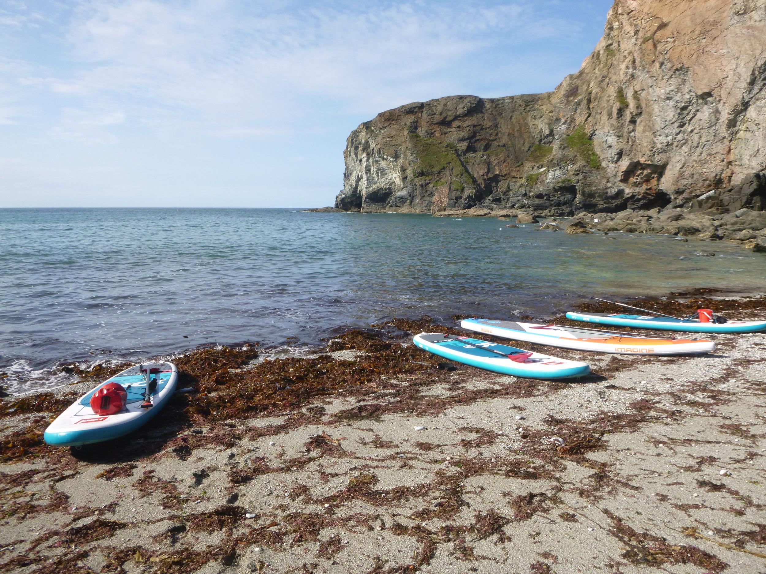 Secluded Beach Porthtowan to Portreath SUP