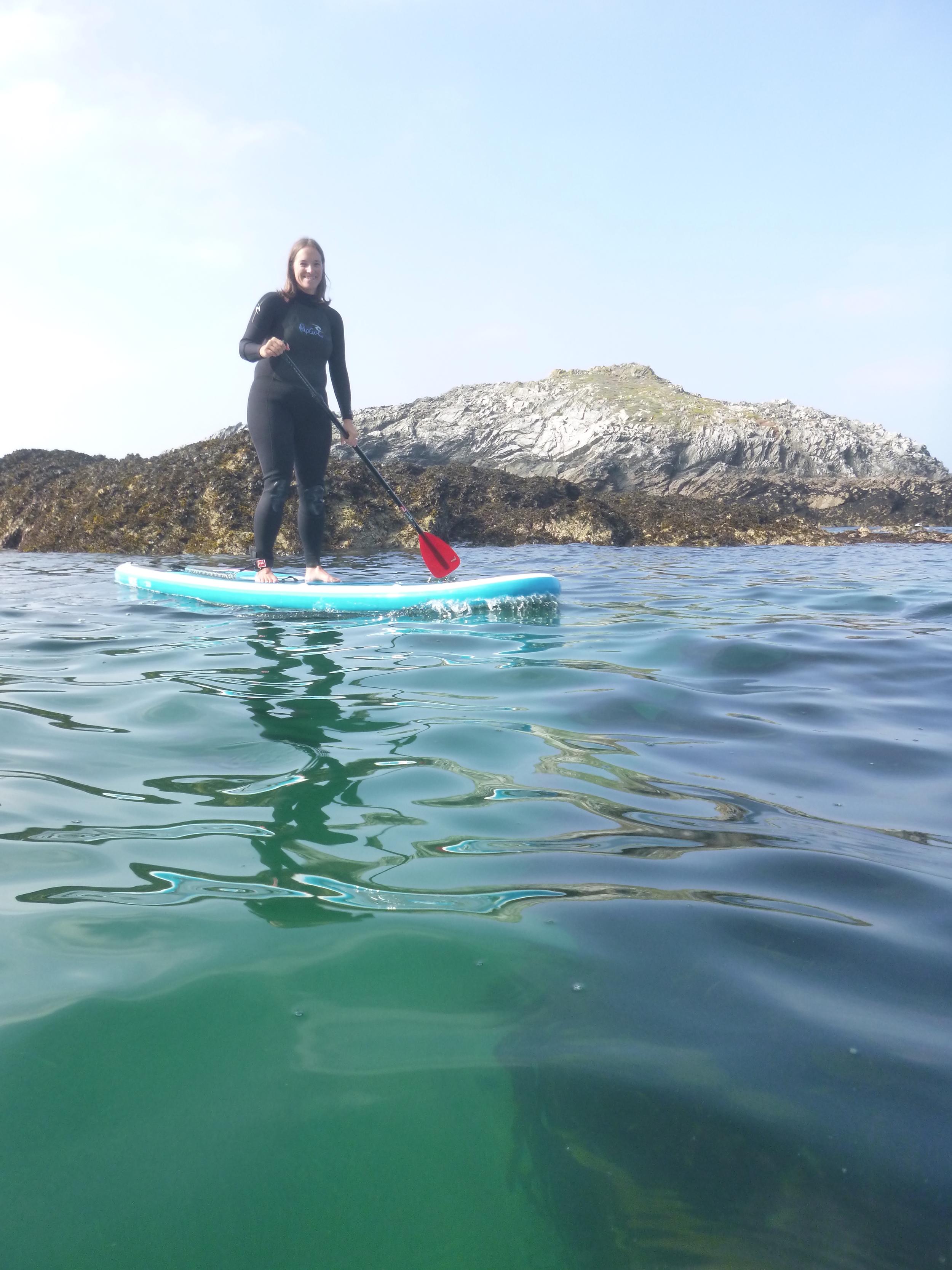 Happy SUP having seen 6 Seals