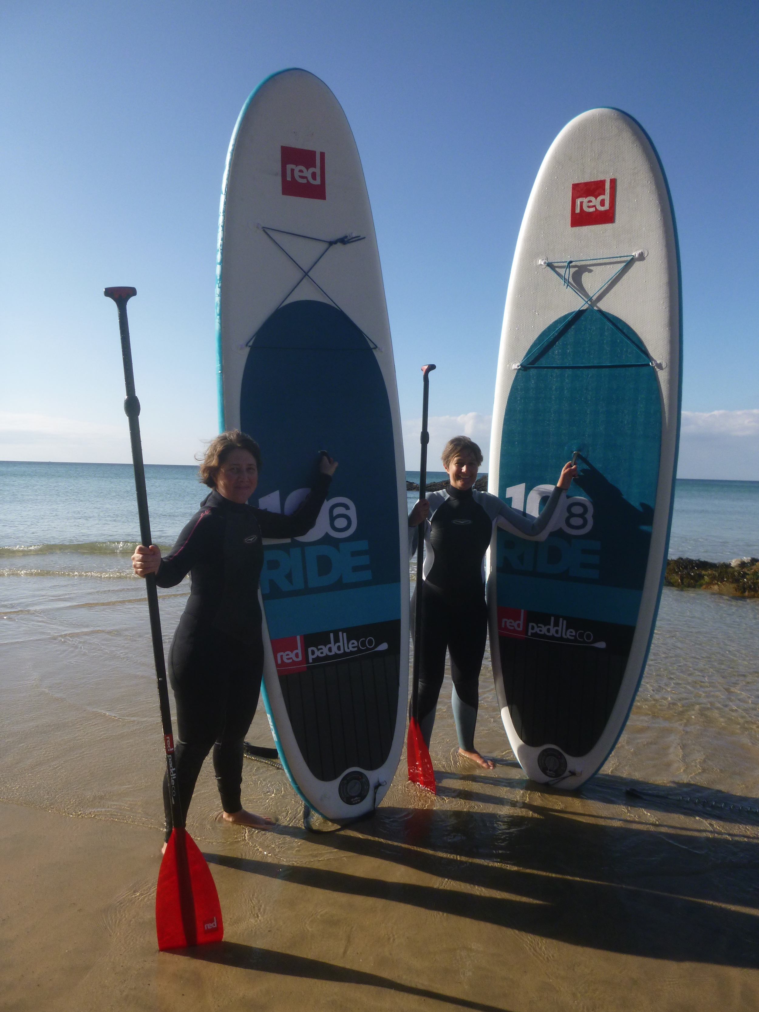 Happy after a stunning Newquay SUP Tour