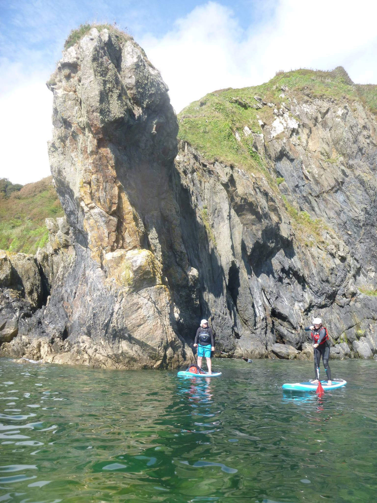 Lambsowden Cove SUP near Porthluney, The Roseland
