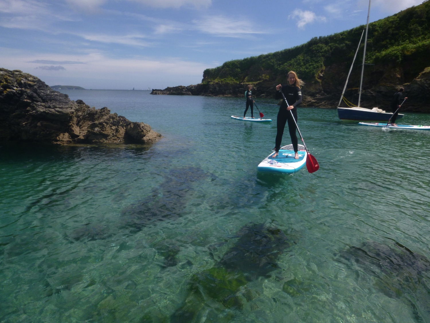 Maenporth Clear Blue Waters - SUP Cornwall
