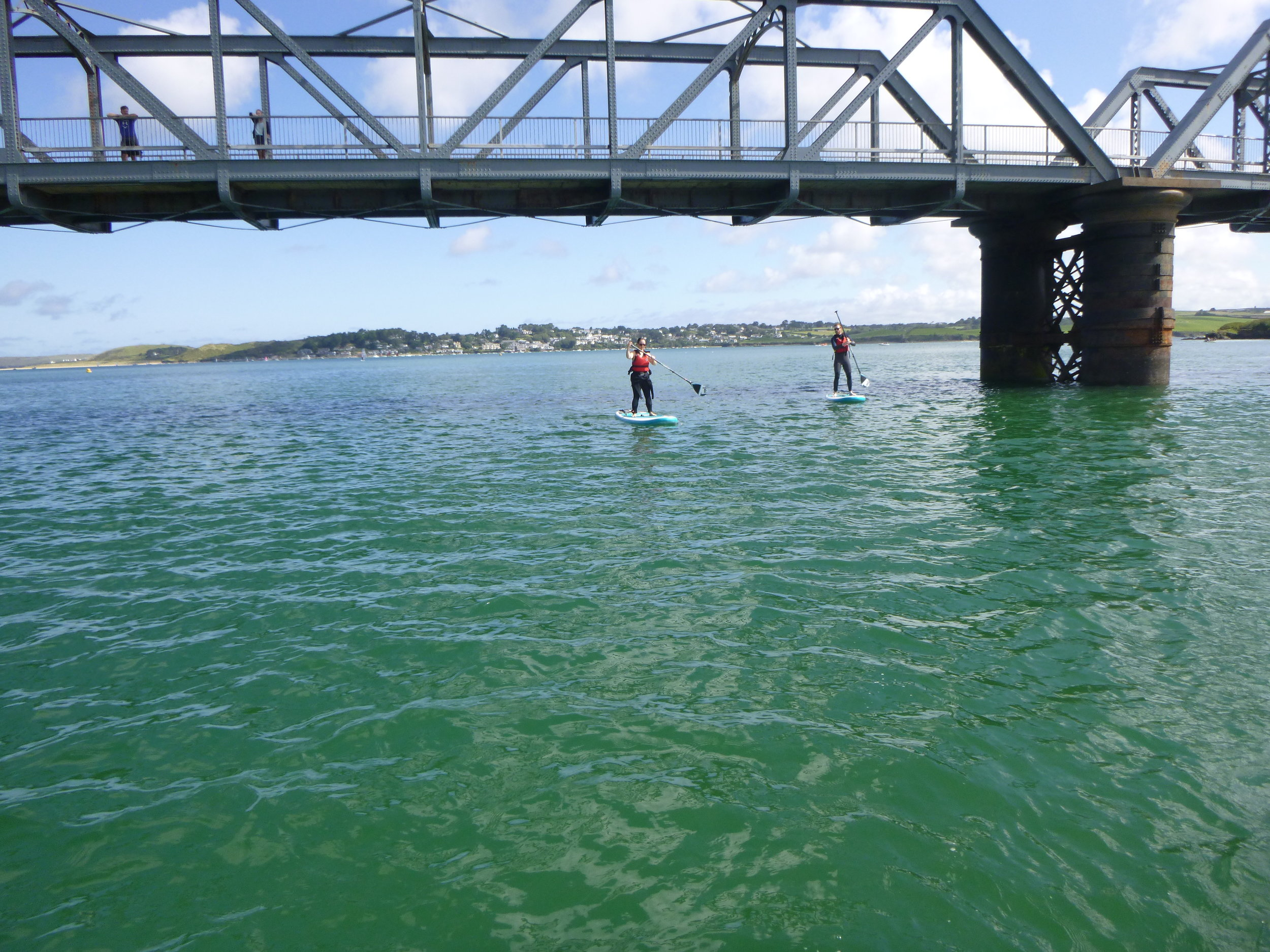 Leaving the Camel Estuary and Padstow, passing under the Camel Trail into Little Petherick Creek. A perfect location in a high tide for stand up paddleboarding.