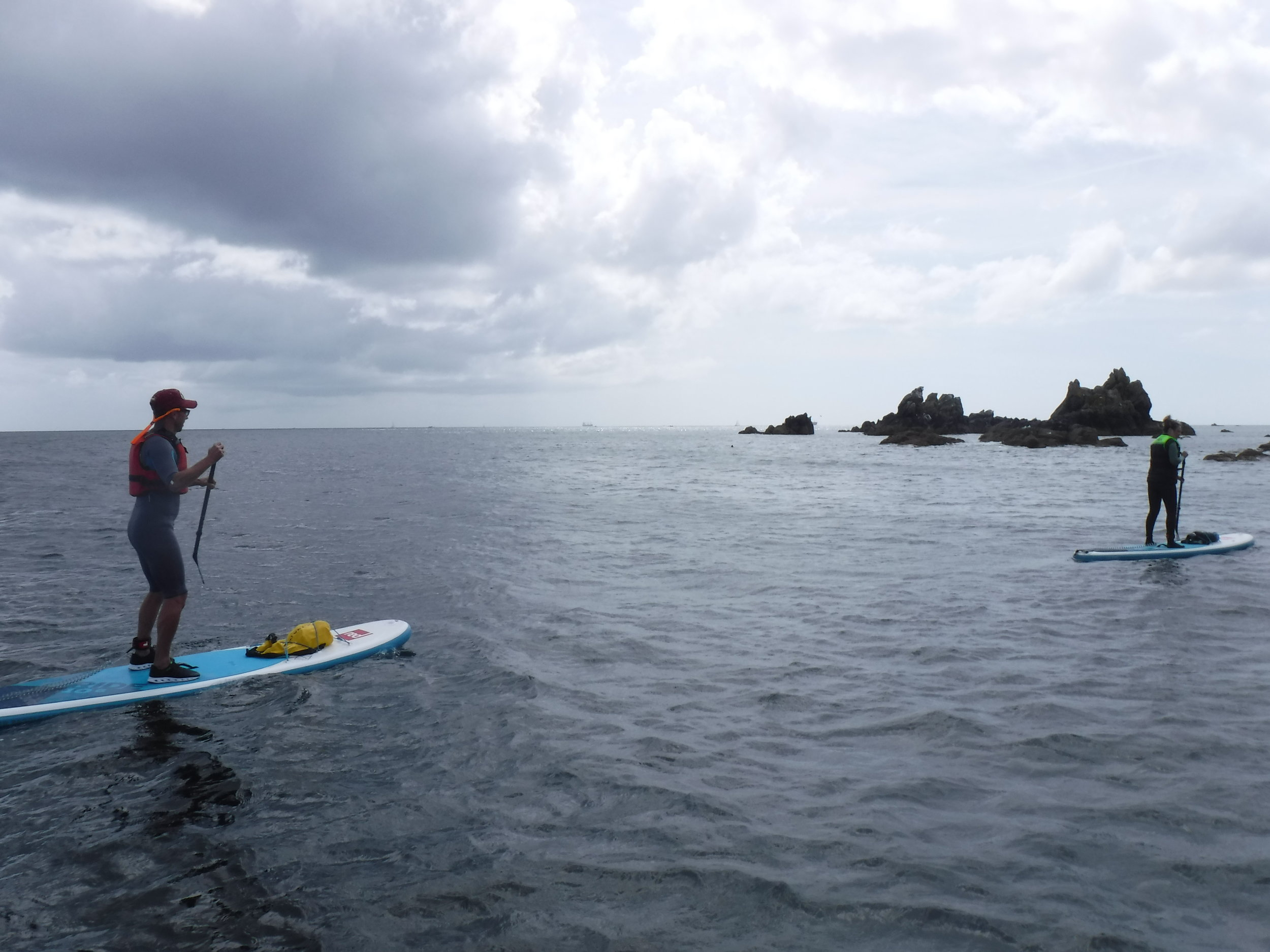 A guided SUP on the Lizard.