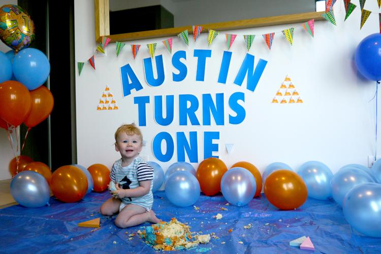 Austin had a smashing birthday