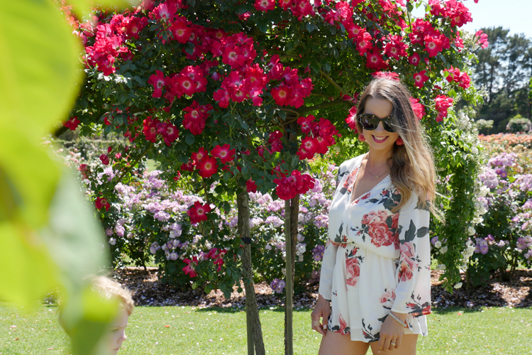 Tobi playsuit with roses
