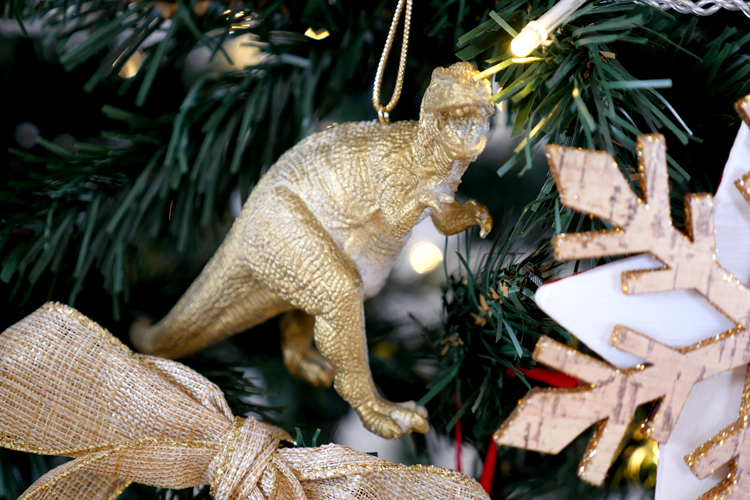 gold dinosaur dino christmas decoration