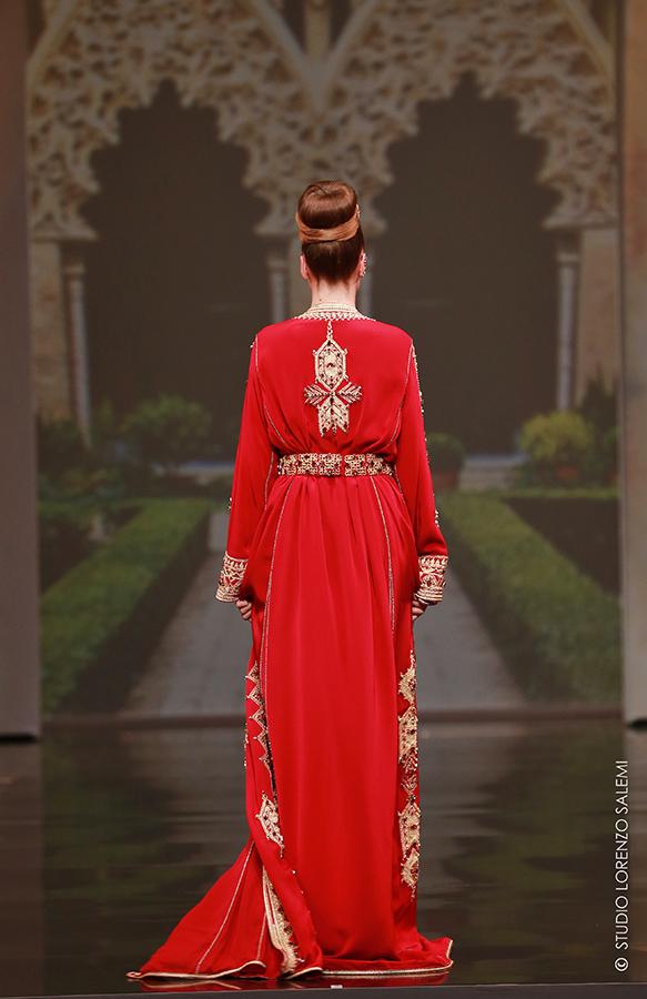 Caftan Haute Couture Fouzia Naciri - Inspiration Broderie Dorée Dos
