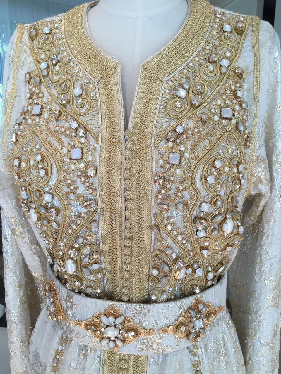 Caftan Haute Couture Fouzia Naciri - Savoir Faire Taditionnel Fait Main